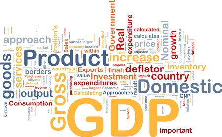 inflation basket: Background concept wordcloud illustration of GDP domestic economy