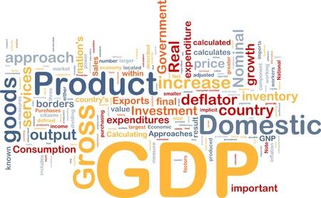 inflation basket: Ilustraci�n de wordcloud concepto de fondo de la econom�a interna de PIB