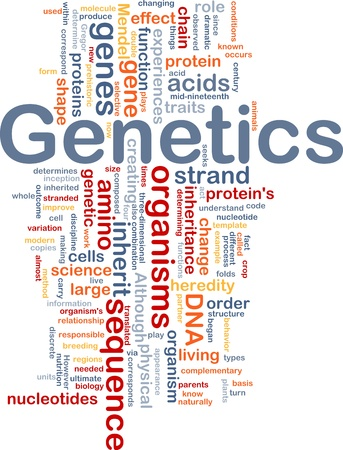 Background concept wordcloud illustration of genetics dna genes illustration