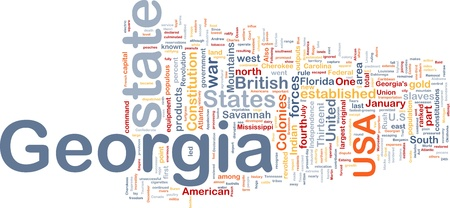 populous: Background concept wordcloud illustration of Georgia American state