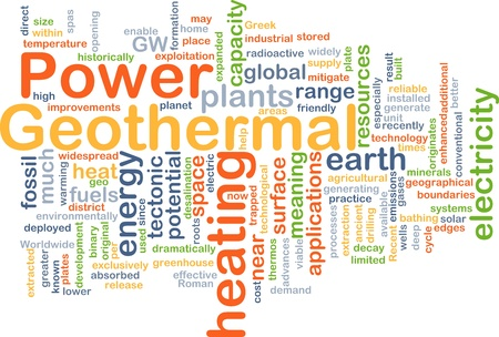 desalination: Background concept illustration of geothermal heating power