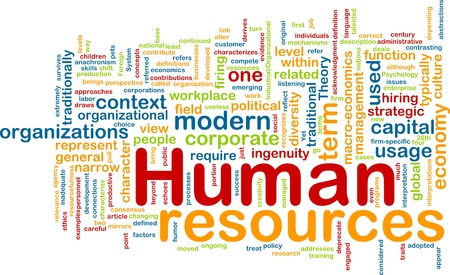 resources: Background concept illustration of human resources management