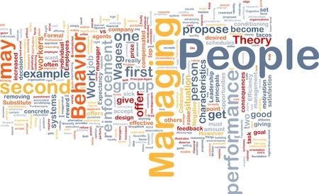 Background concept wordcloud illustration of business managing people illustration