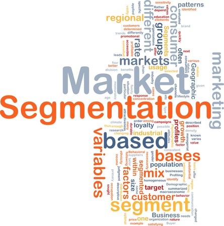 segmentation: Background concept wordcloud illustration of business market segmentation