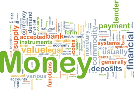 valuation: Background concept illustration of financial money payment