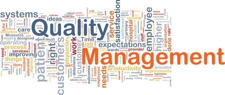 word clouds: Background concept illustration of business quality management