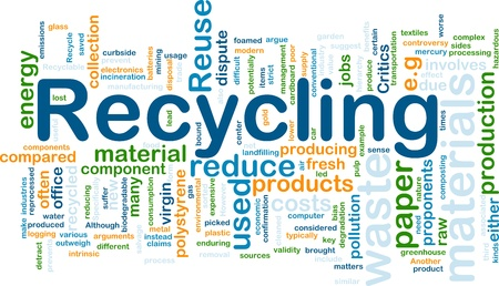 energy management: Background concept illustration of recycling waste materials Stock Photo