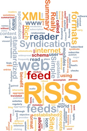 widespread: Background concept wordcloud illustration of internet RSS feed