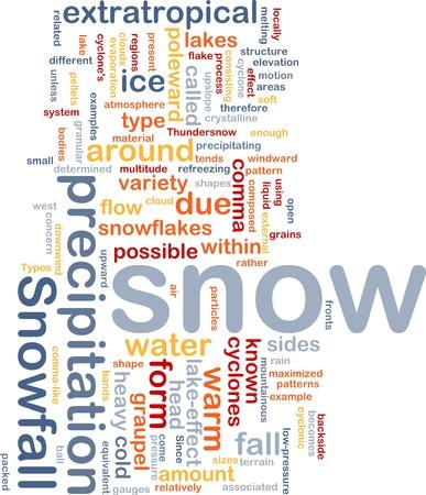 precipitaci�n: Ilustraci�n de wordcloud de concepto de fondo de las nevadas de las precipitaciones de nieve
