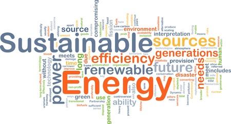 energia renovable: Ilustraci�n del concepto de fondo del poder de la energ�a sostenible