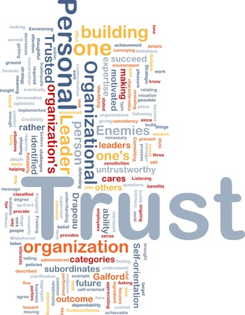 Background concept illustration of building personal trust illustration