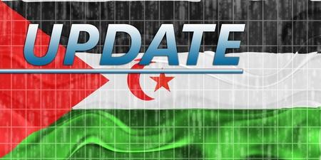 News information splash Flag of Western Sahara, national country symbol illustration wavy Stock Illustration - 8635311