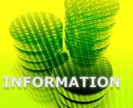 Information Data storage abstract, computer technology concept illustration illustration