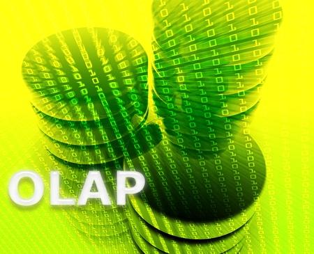 OLAP data abstract, computer technology information concept illustration illustration