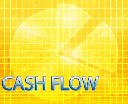 Illustration of cash flow budgeting finance and business pie chart illustration