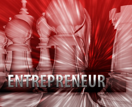Abstract entrepreneur business strategy management chess themed illustration illustration