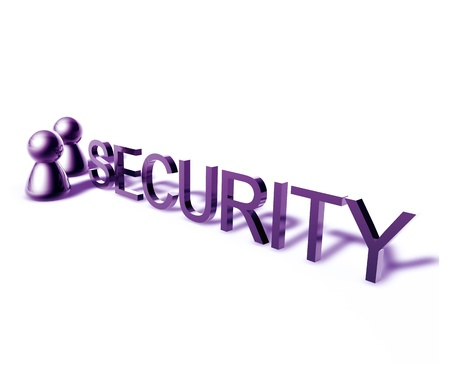 security technology: Security online word graphic, with stylized people icons