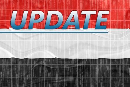 News information splash Flag of Yemen, national country symbol illustration wavy Stock Illustration - 8635291