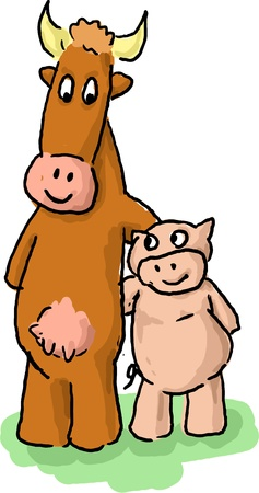 buddies: Animal buddies cartoon odd couple unusual pair of friends