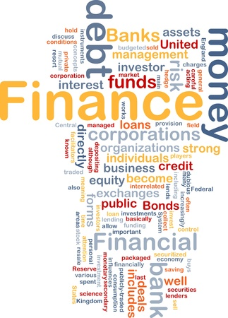 funds: Concept diagram wordcloud illustration of finance money funds