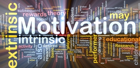 factors: Background concept wordcloud illustration of motivation glowing light Stock Photo