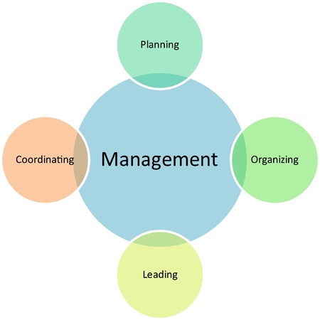 Management activities business diagram strategy concept chart illustration Stock Illustration - 9342833
