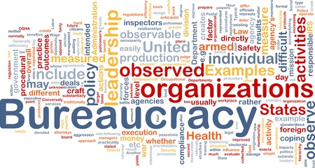 observable: Background concept wordcloud illustration of bureaucracy Stock Photo