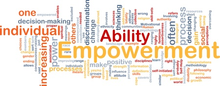 empowered: Background concept wordcloud illustration of enpowerment