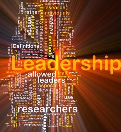 Achtergrond concept wordcloud illustratie van leiderschap gloeiende licht