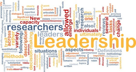 Background concept wordcloud illustration of leadership Stock Illustration - 9342897