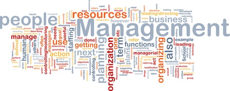 Background concept wordcloud illustration of management Stock Illustration - 9342871