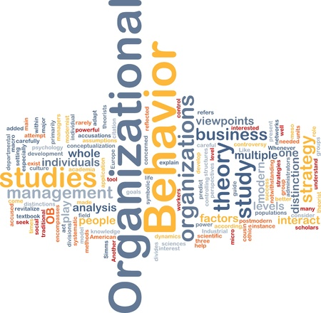 organizational: Background concept wordcloud illustration of organizational behavior Stock Photo