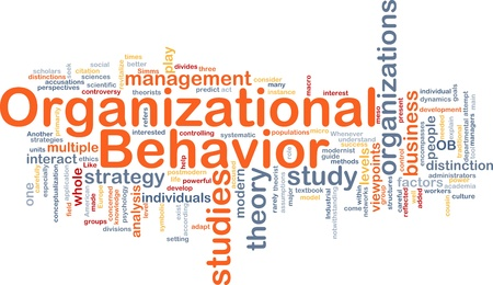 academia: Background concept wordcloud illustration of organizational behavior Stock Photo
