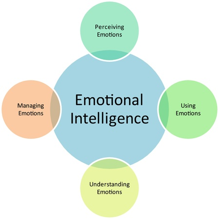 inteligencia emocional: Emocional inteligencia empresarial diagrama gestión estrategia concepto gráfico Ilustración