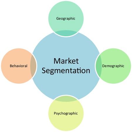 demographic: Illustrazione concetto diagramma del strategia di gestione grafico di mercato segmentazione business
