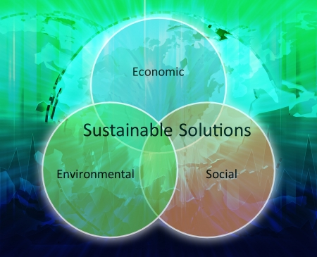 solutions icon: Sustainable solutions strategy business diagram management concept chart  illustration