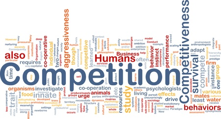 competitive: Background concept wordcloud illustration of competition Stock Photo