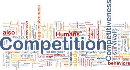 competitividad: Ilustraci�n de wordcloud concepto de fondo de la competencia