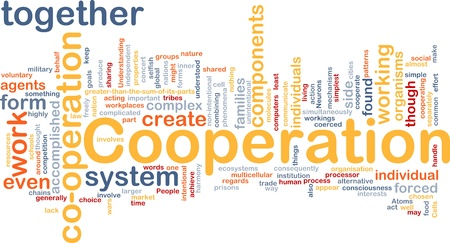 intentional: Background concept wordcloud illustration of cooperation