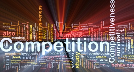 Background concept wordcloud illustration of competition glowing light Stock Illustration - 9373356