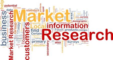 Background concept wordcloud illustration of market research illustration