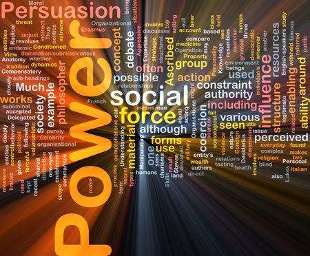 ascribed: Background concept wordcloud illustration of power glowing light