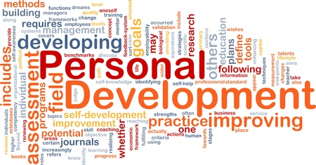 assessment: Background concept wordcloud illustration of personal development