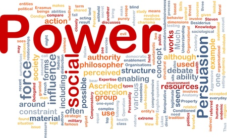 ascribed: Background concept wordcloud illustration of power Stock Photo