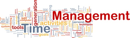 implies: Background concept wordcloud illustration of time management