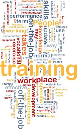 training: Achtergrond concept wordcloud illustratie van de opleiding