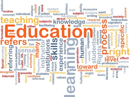 Background concept wordcloud illustration of education illustration