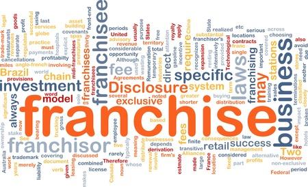 disclosure: Background concept wordcloud illustration of franchise