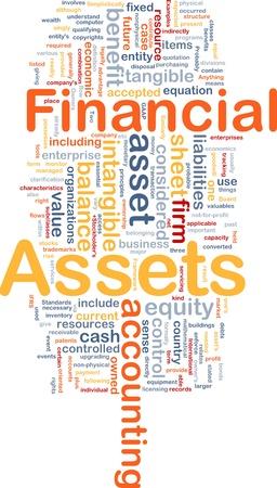 compromisos: Ilustraci�n de wordcloud concepto de fondo de activos financieros