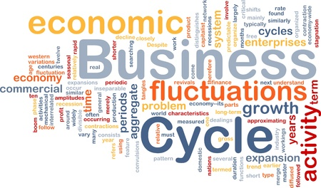 time critical: Background concept wordcloud illustration of business cycle